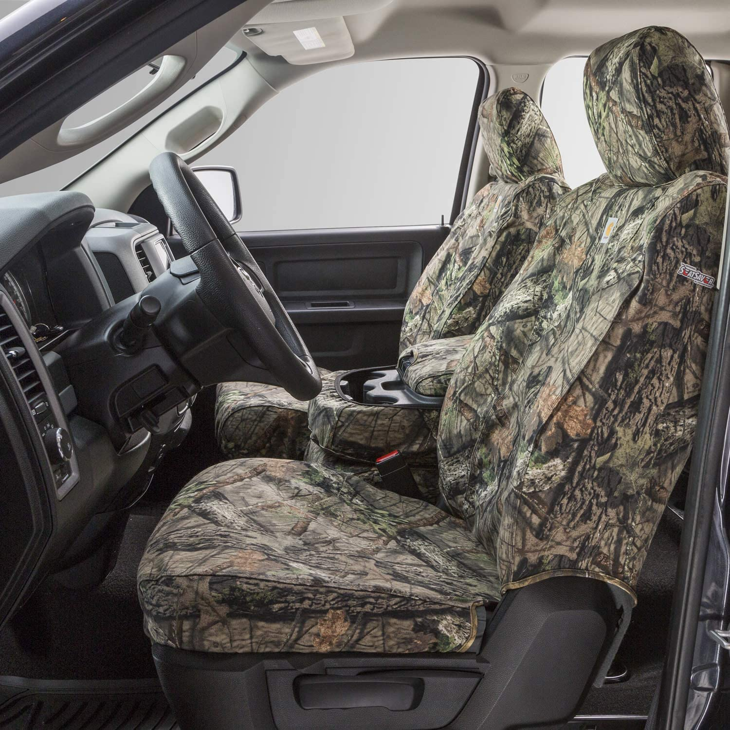 Covercraft Carhartt Mossy Oak Camo SeatSaver Second Row Custom Fit Seat Cover for Select Toyota Tacoma Models - Duck Weave (Break-Up Country) - SSC8452CAMB