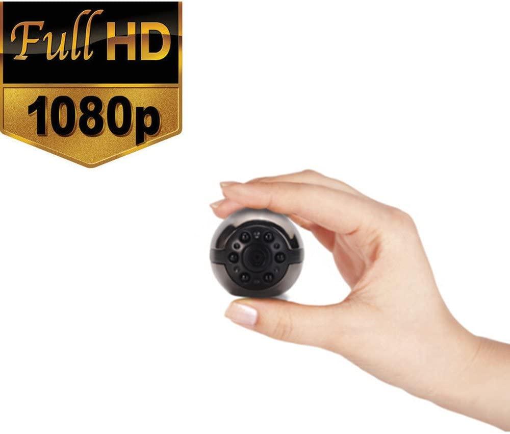 Mini Spy Hidden Camera, SQ9 1080P/720P Full HD 6 LED Infrared Night Vision Motion Detection Portable Spy Camera Home Surveillance Camera Nanny Cam secret camera security cameras home security cameras