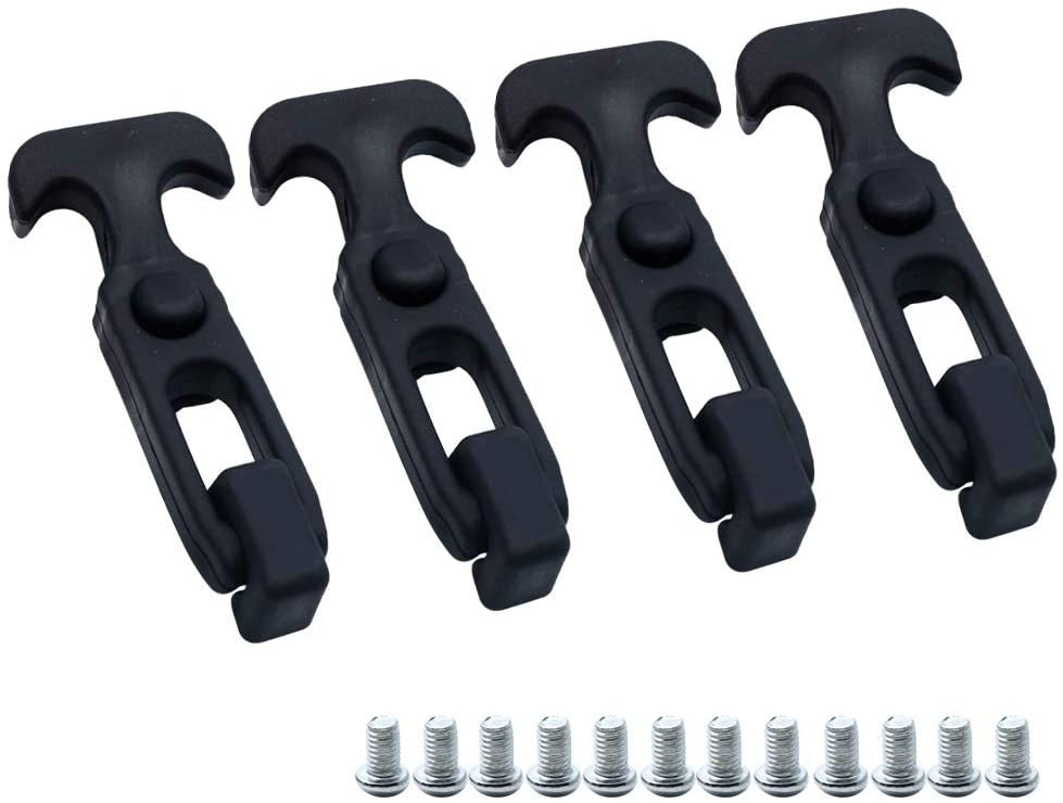 Kyuionty 4 Pcs Flexible Rubber Latches T-Handle Draw Latch for Golf Cart Cargo Box Cooler Tool Box