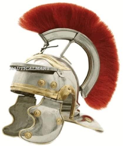 NAUTICALMART Roman Centurion Helmet with Red Plume