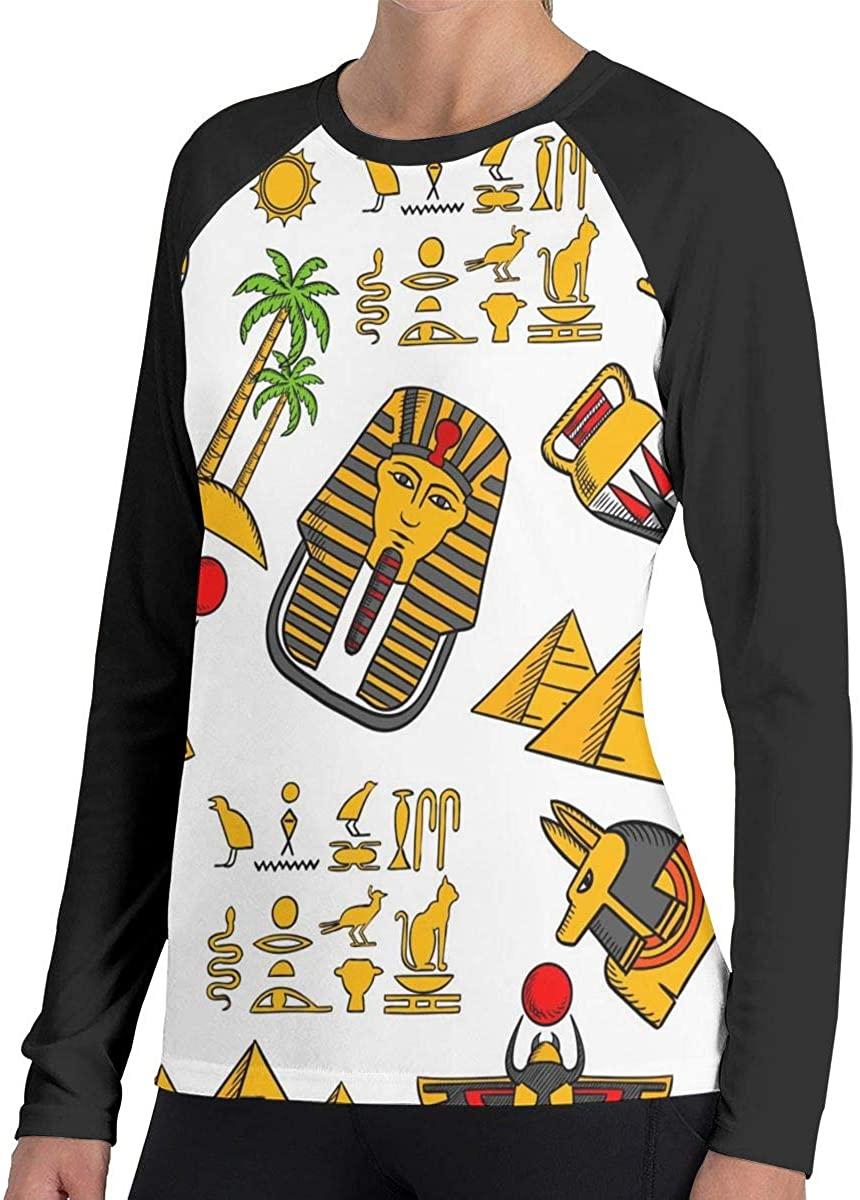 Fengyaojianzhu Women's Egypt Fashion Long Sleeve Tops Sweatshirt Tee T-Shirt
