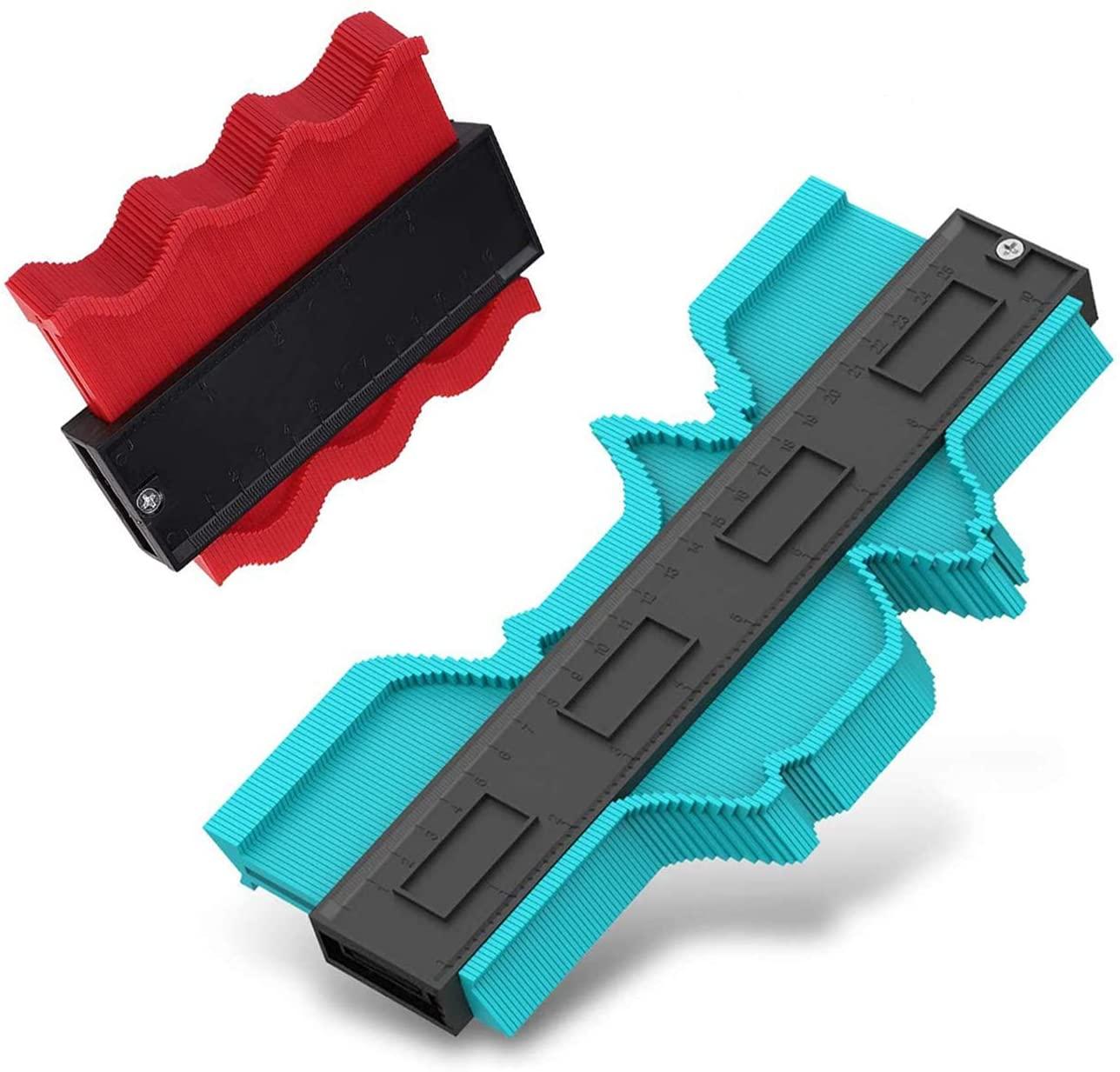 Contour Gauge with Lock 5 & 10 inch Profile Tool- Adjustable Lock-Precisely Copy Irregular Shape Duplicator -Irregular Weldin