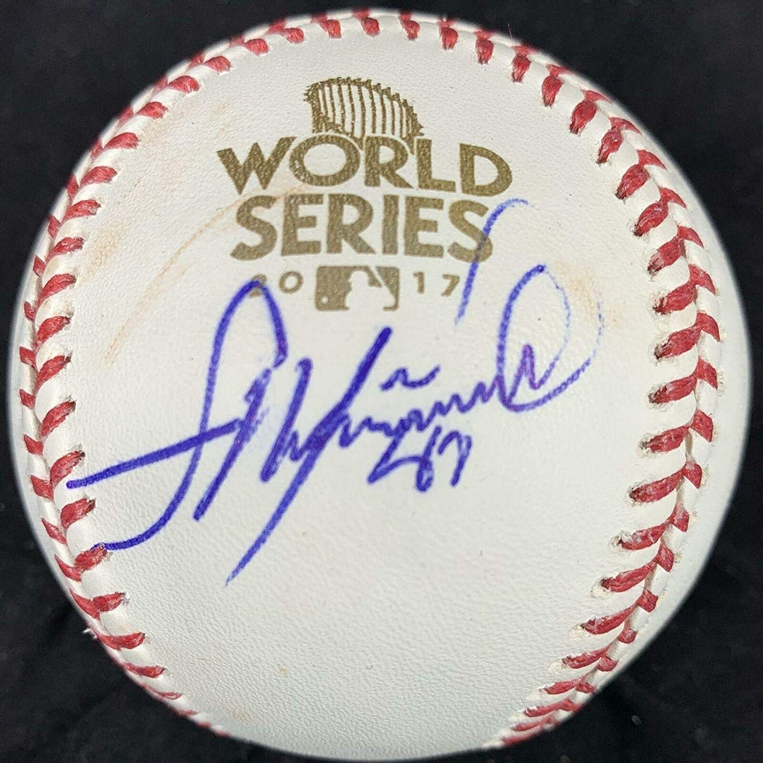 Francisco Liriano Autographed Ball - 2017 WS - PSA/DNA Certified - Autographed Baseballs
