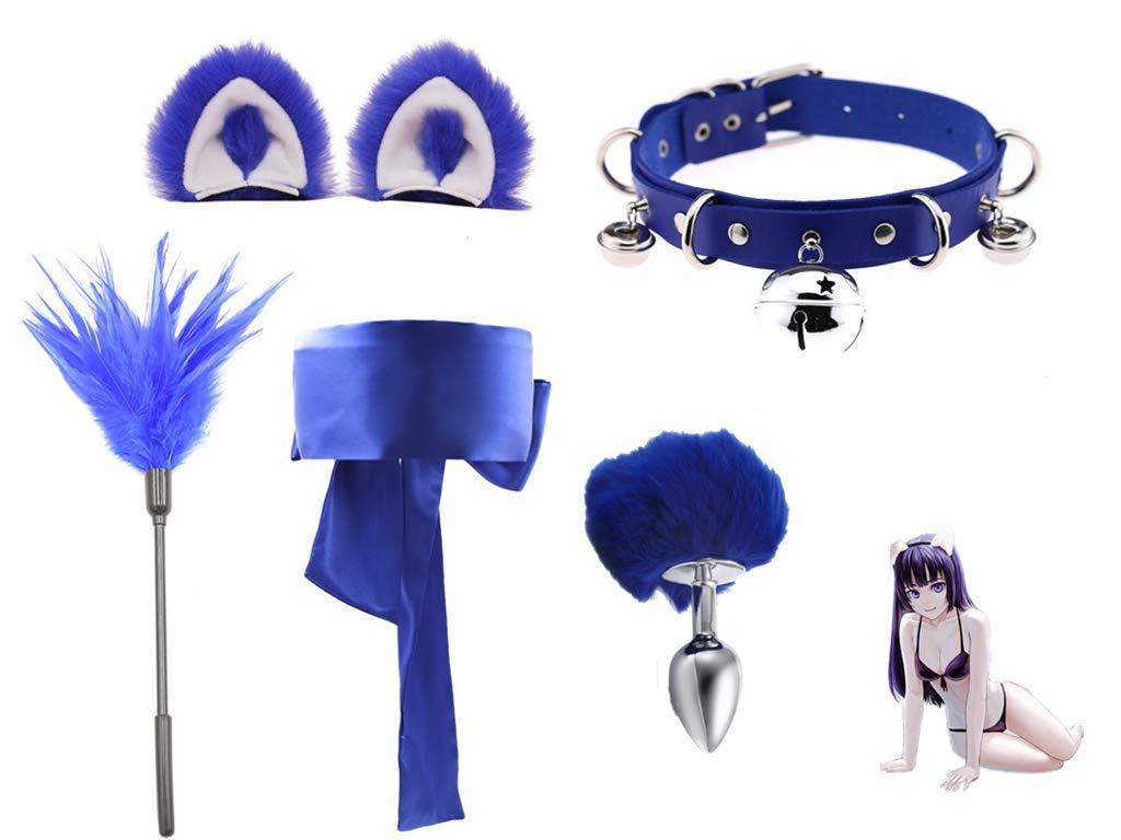 Micrkrowen Metal Amal Plug Rhinestone Decorative Hook Fox Tail P1ug Beginner's Toy S'ex Play Set