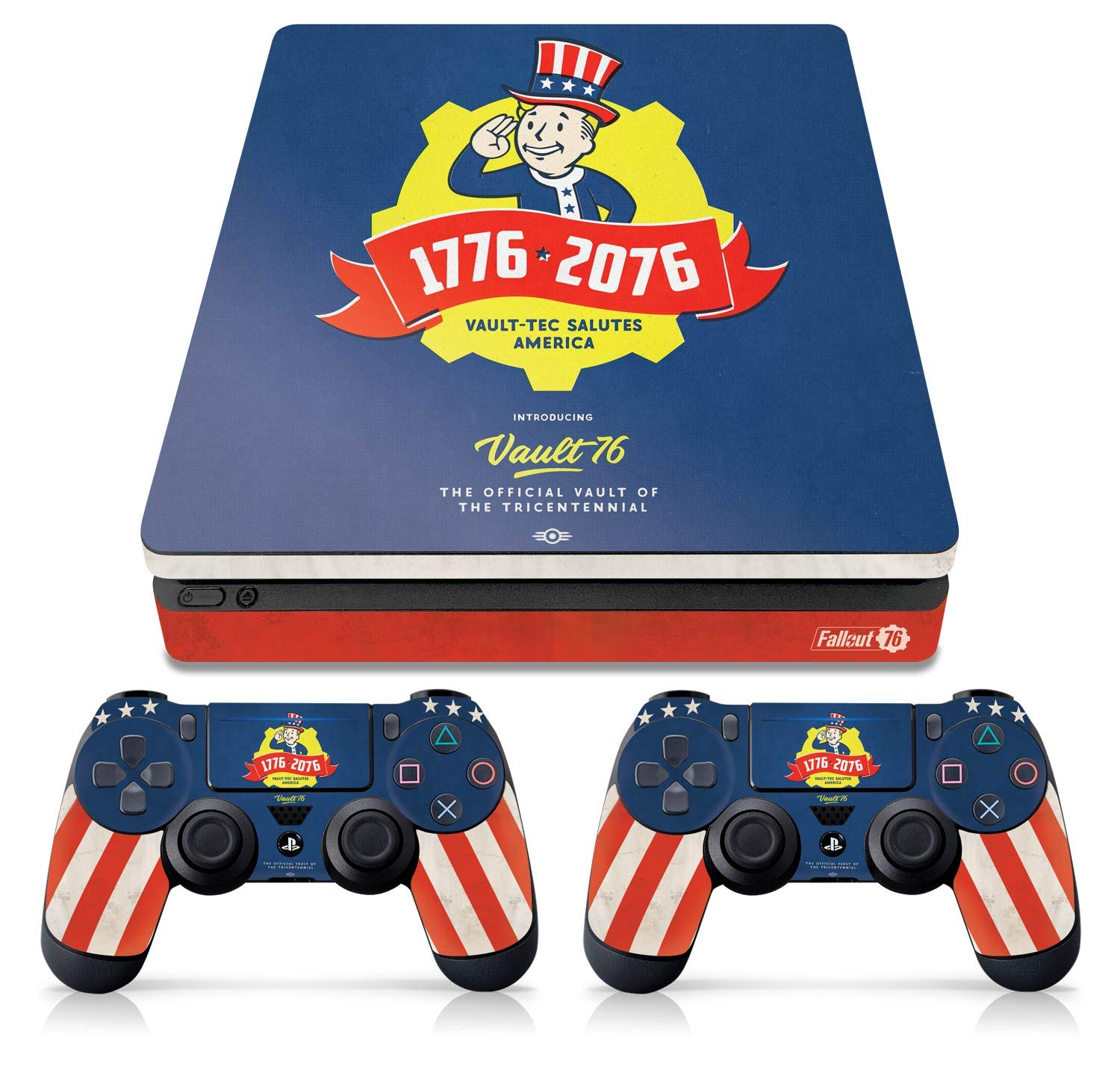 Controller Gear Officially Licensed Console Skin Bundle for PS4 Slim - Fallout - Tricentennial