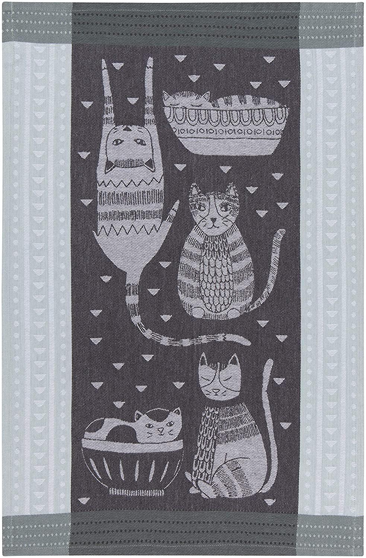 Now Designs 2180067aa Jacquard Cotton Kitchen Towel, Purr Party