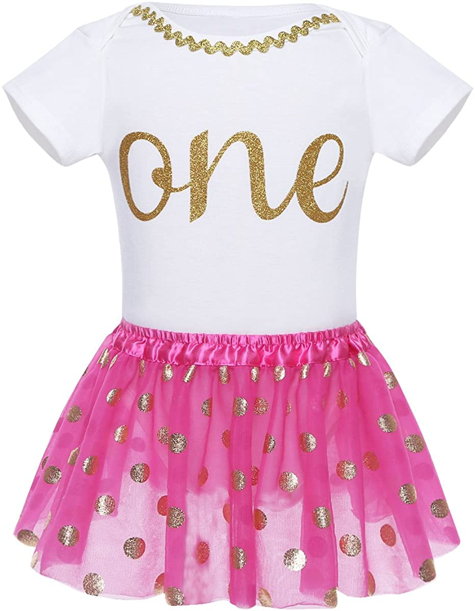 YiZYiF Baby Girls 1st Birthday Fairy Outfits Tutu Layer Skirt with Ruffles Tank Top Set