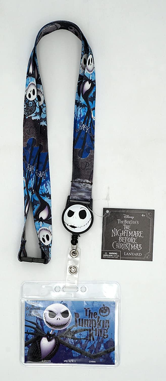 Nightmare Before Christmas Jack Skellington Lanyard with Zip Lock Card Holder