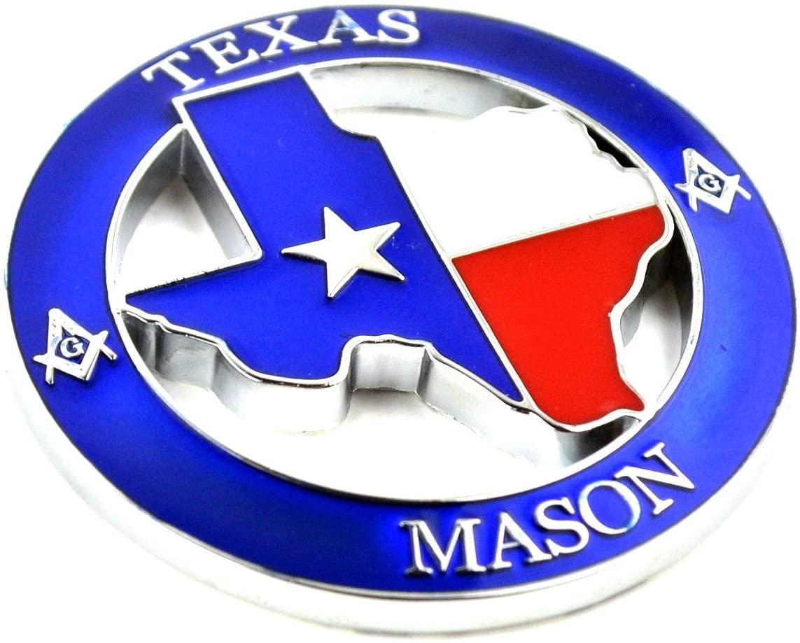 1PC Car Emblem Badge Metal Sticker 70mm(2.76in) TEXAS MASON Car Styling Universal