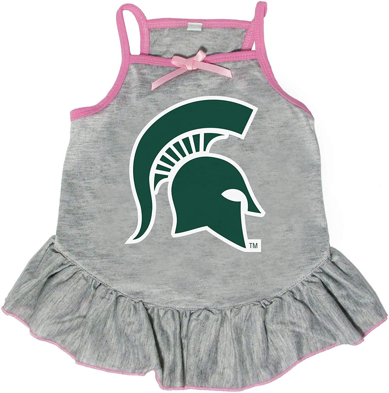 Littlearth NCAA Michigan State Spartans Pet Dress, Medium