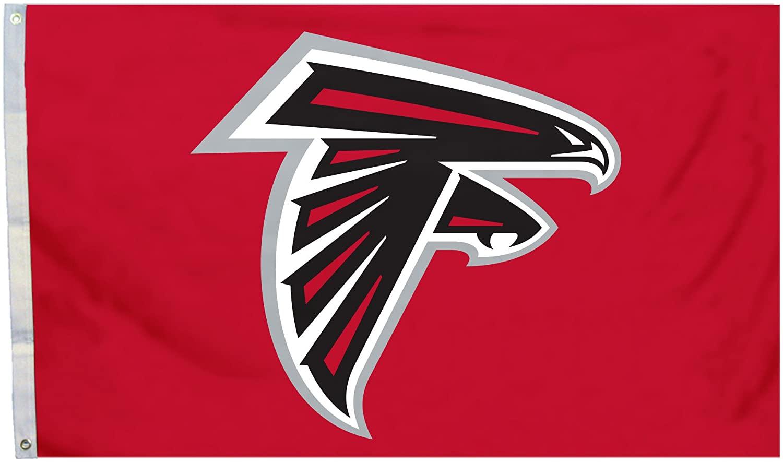 Fremont Die NFL Atlanta Falcons 3' x 5' Flag with Grommets, 3 x 5-Foot, Logo