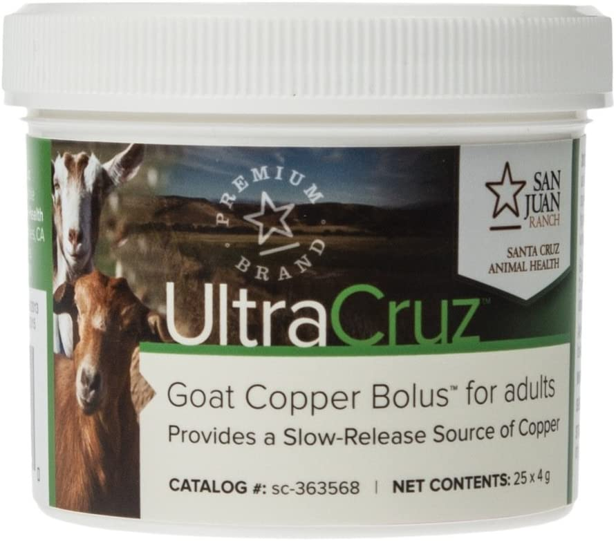 UltraCruz Goat Copper Bolus Supplement for Adults, 25 Count x 4 Grams
