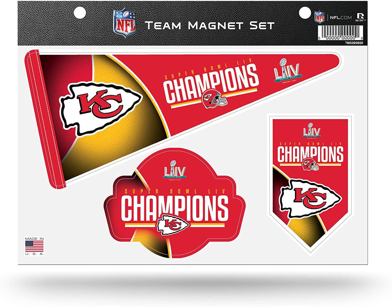 NFL Rico Industries  LIV Die Cut Team Magnet Set Sheet, Super Bowl Champion LIV - Kansas City Chiefs