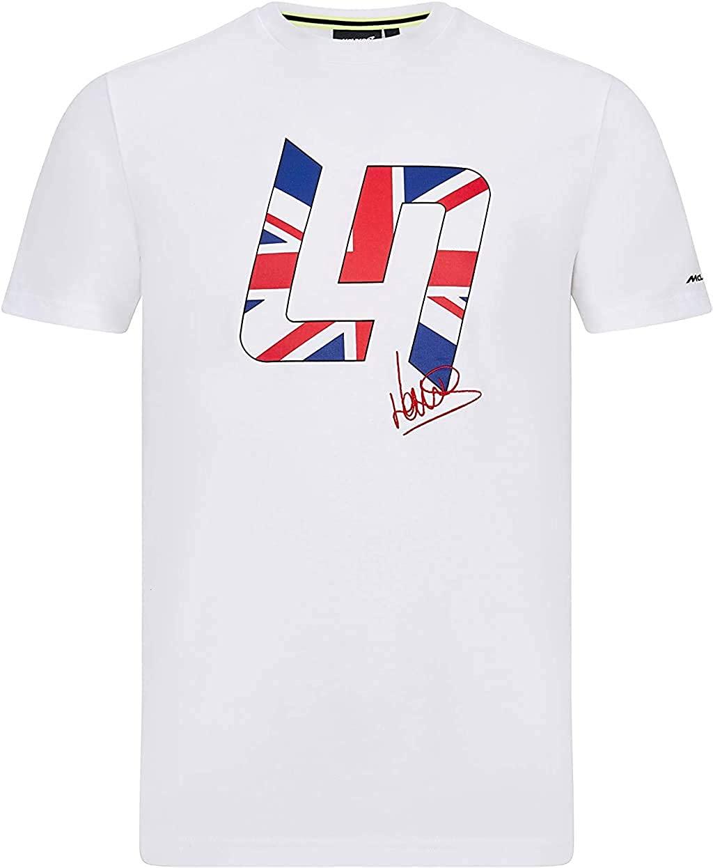 F1 McLaren Lando Norris Men's Great Britain T-Shirt White