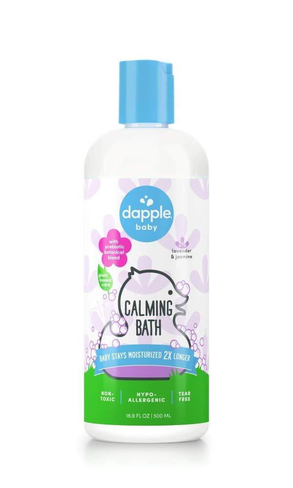 DAPPLE Baby Calming Bath, Lavender Calming Bath for Kids, Sulfate-Free, Hypoallergenic, 16.9 Fluid Ounces