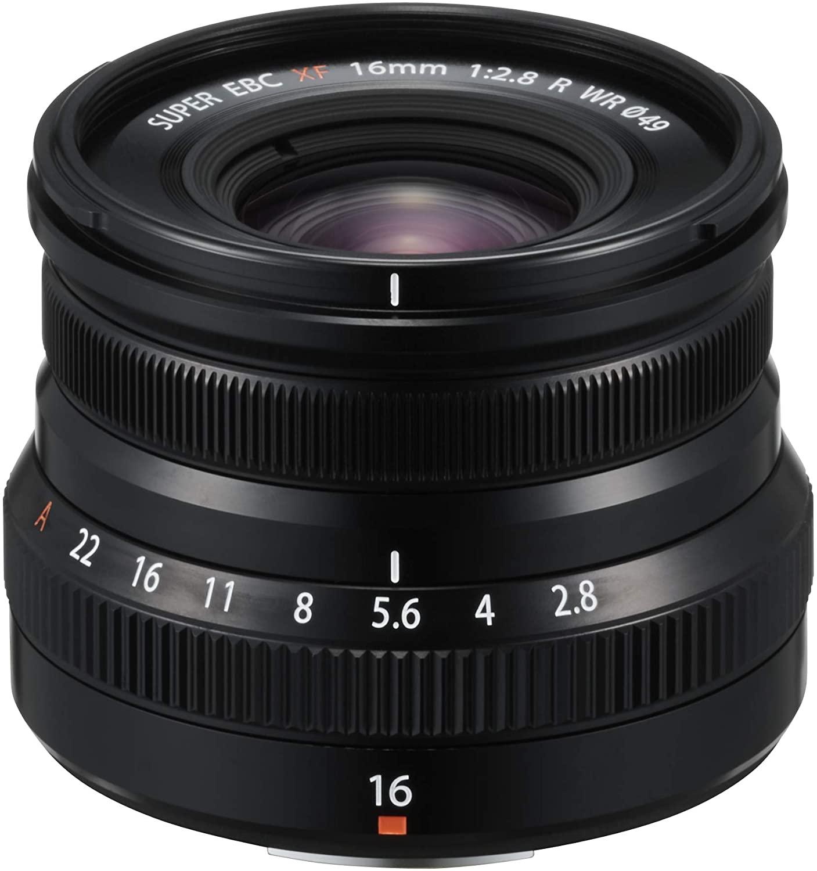 Fujinon XF16mm F2.8 R Weather Resistant Lens, Black