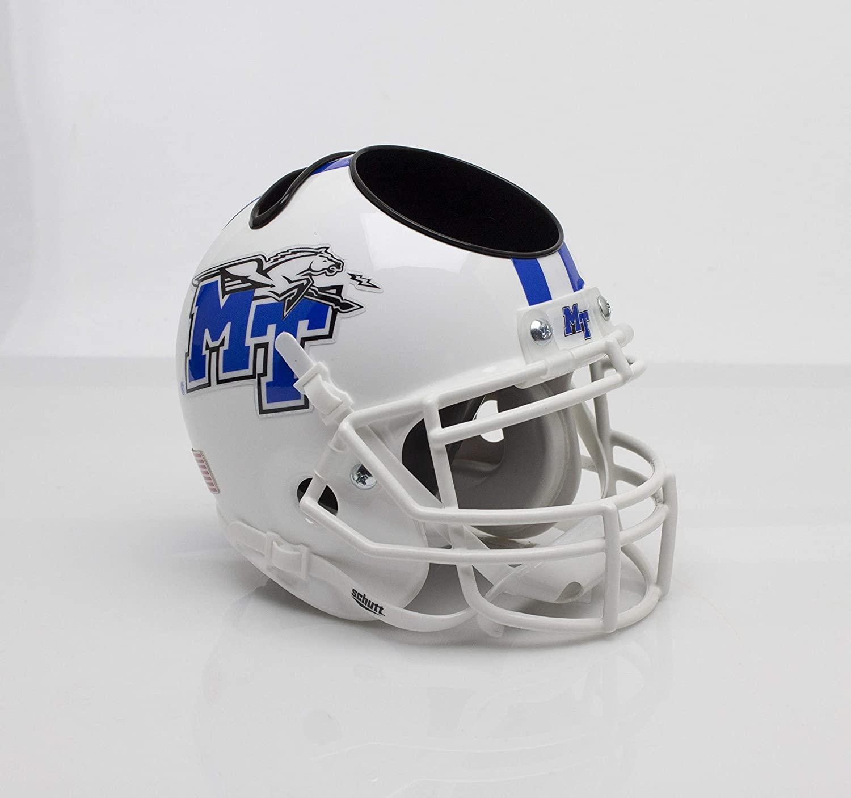 Schutt NCAA Middle Tennessee State Blue Raiders Football Helmet Desk Caddy