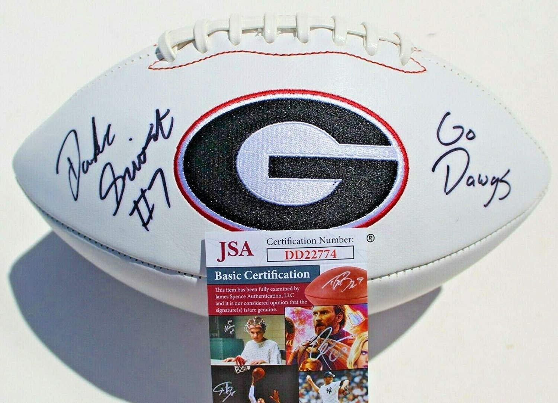 D'Andre Swift Signed Georgia Bulldogs Logo Football w COA DD22774 C - JSA Certified - Autographed College Footballs