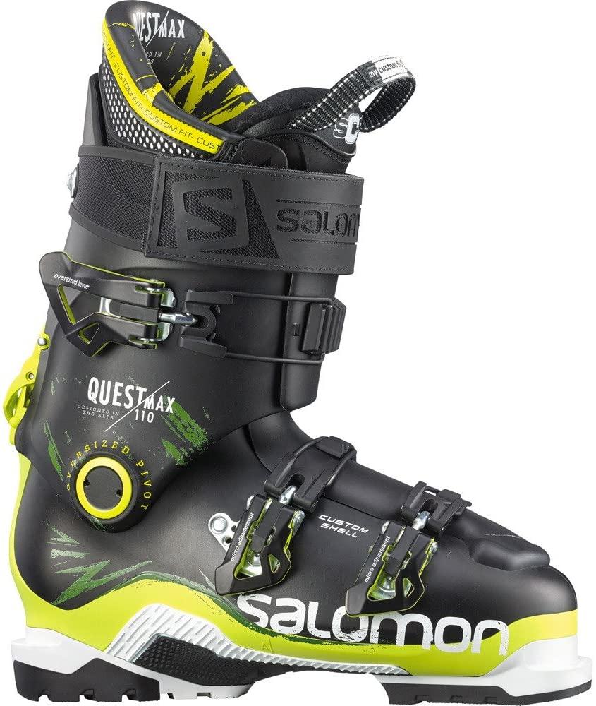 Salomon Quest Max 110 Ski Boot Men's Black/Acid Green 28.5
