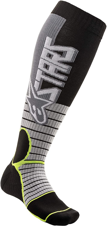 Alpinestars MX Pro Men's Off-Road Motorcycle Socks - Grey/Black/Small/Medium