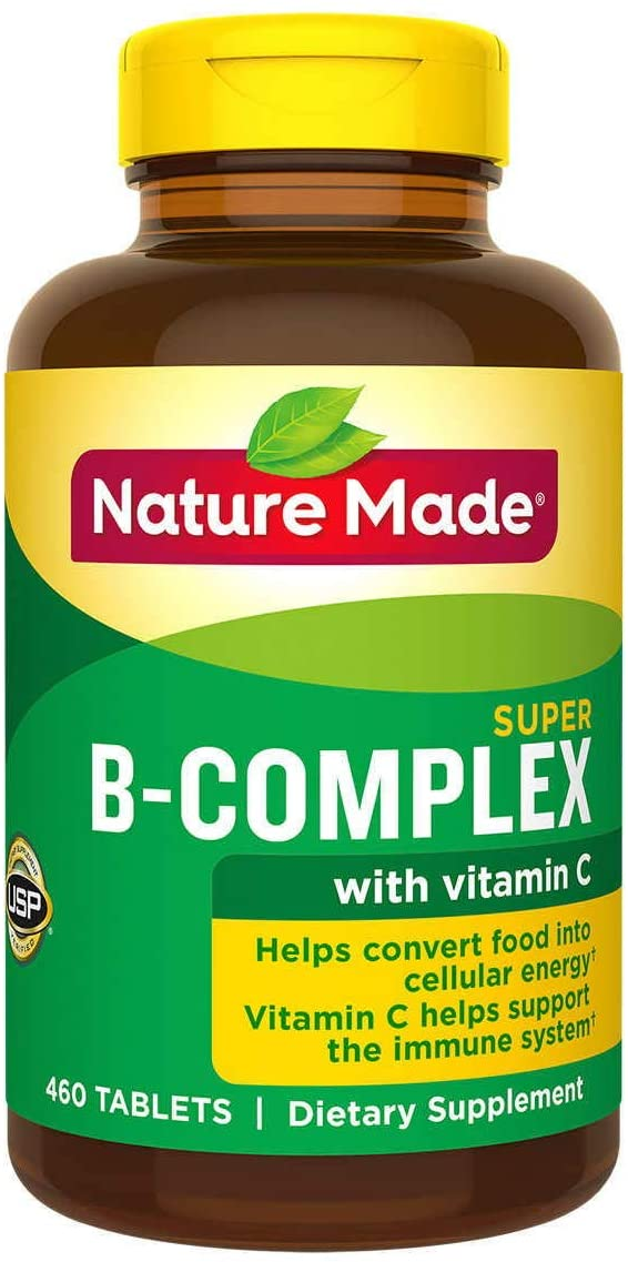 Nature Made Super B Complex Tablets , New Larger Count , 460 Count Single & Multi Packs (Two Bottles each of 460 Tablets) by Nature Made