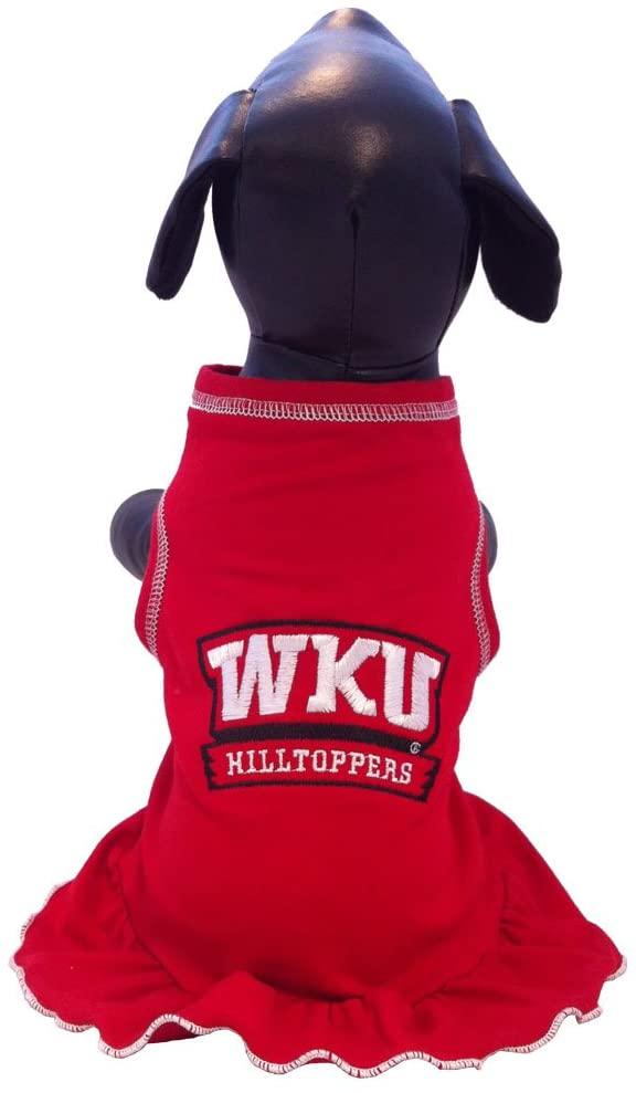 NCAA Western Kentucky Hilltoppers Cheerleader Dog Dress, Medium