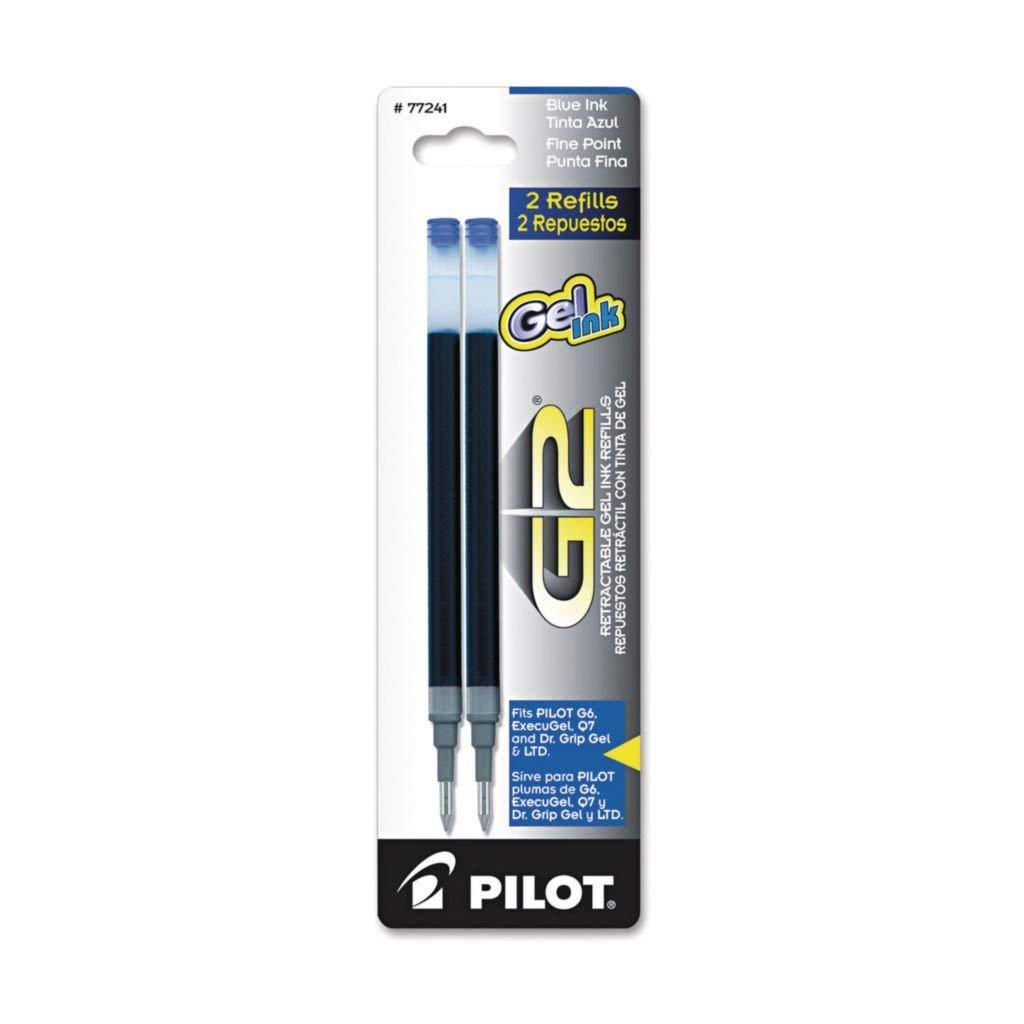 PIL77243 - Ink Color : Green - Pilot Refills for Pilot G2 Gel, Dr. Grip Gel Roller, ExecuGel G6 Gel Pen, Dr. Grip Ltd, Q7 Gel Pens - Pack of 2
