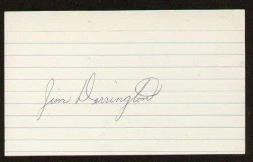 Jim Derrington signed autographed 3x5 index card F1283