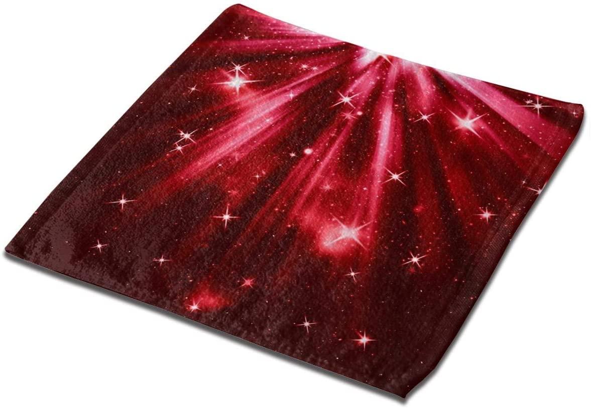 YIXKC Washcloth Towel Red Christmas Square Towel Microfiber Towel Multi-Purpose Face Cloths Unisex Towel Washcloth Hand Towels Kids Bath Washcloths