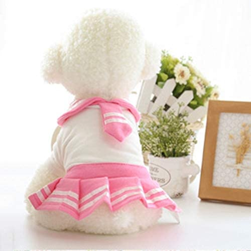 Pet Supplies Little Scarves School Skirt Pet Dog Casual Skirt Pet Products, Size: M, Back Length: 23cm, Chest: 34cm, Random Color and Style Delivery (Size : Hc3519f)