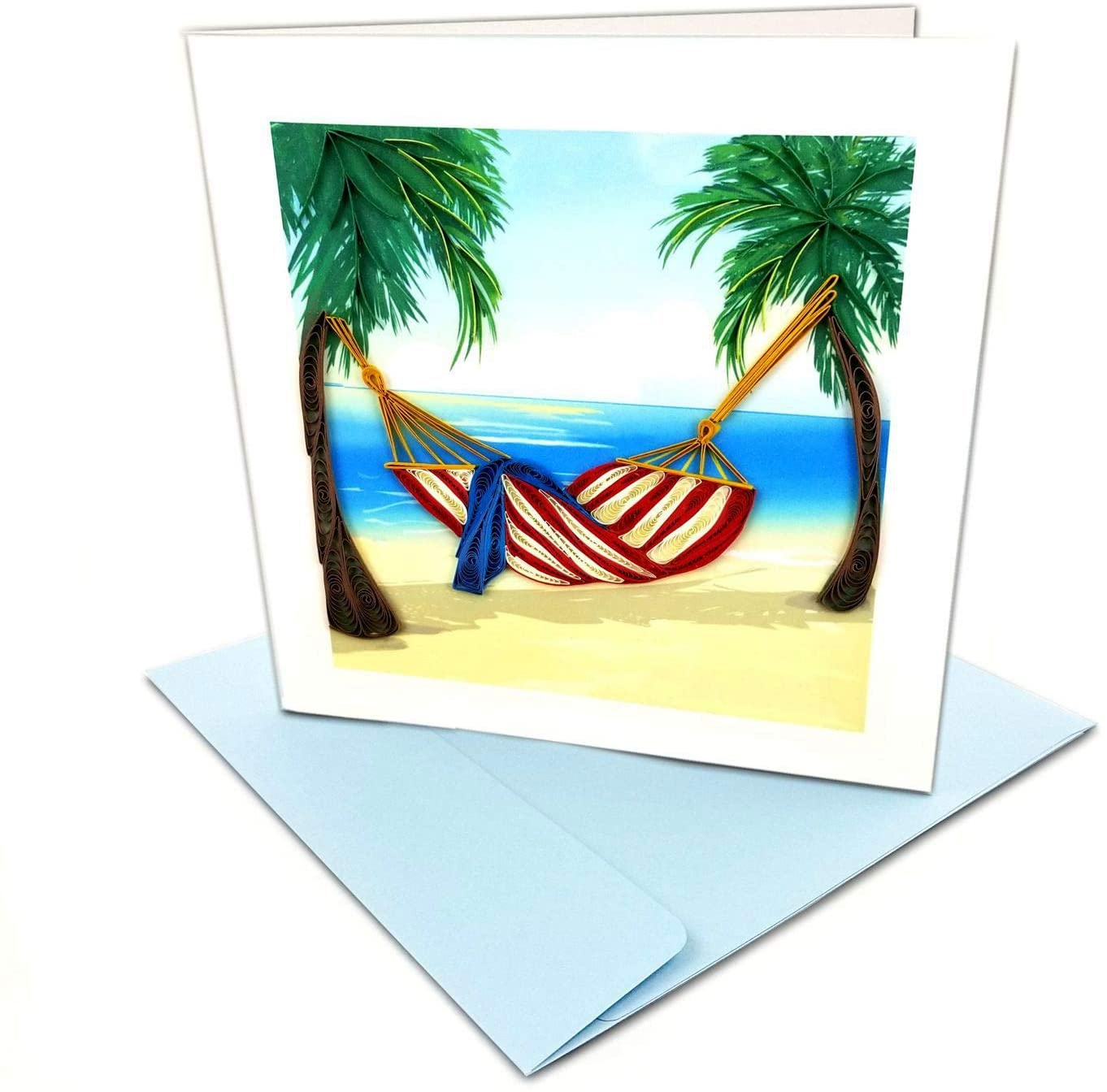 Tropical State of Mind Quilling Greeting Card, 6x6