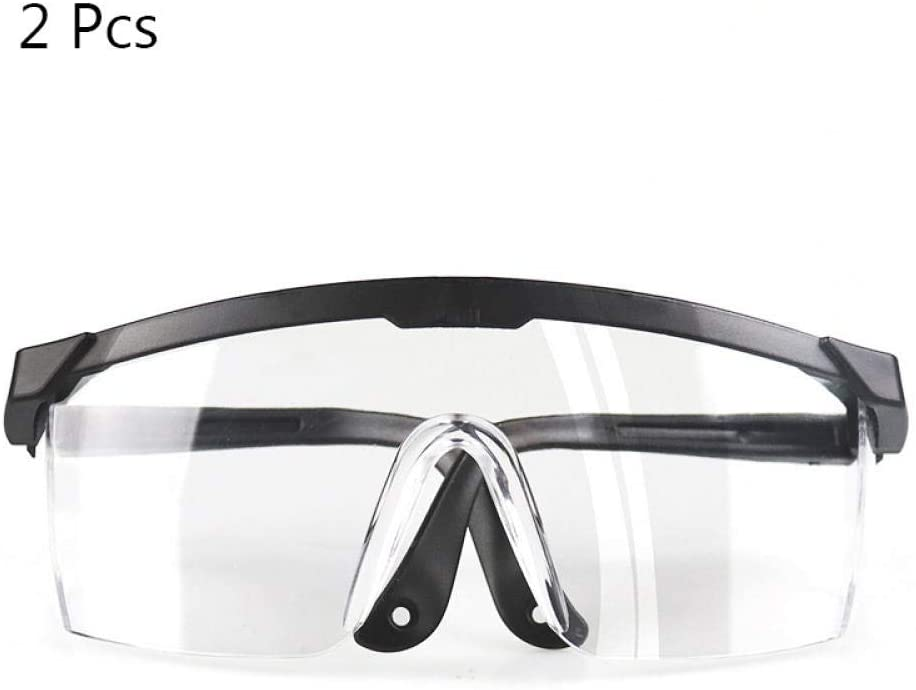 MikMok Safety Glasses with Clear Anti Fog Lens Scratch Resistant Wrap-Around Lenses