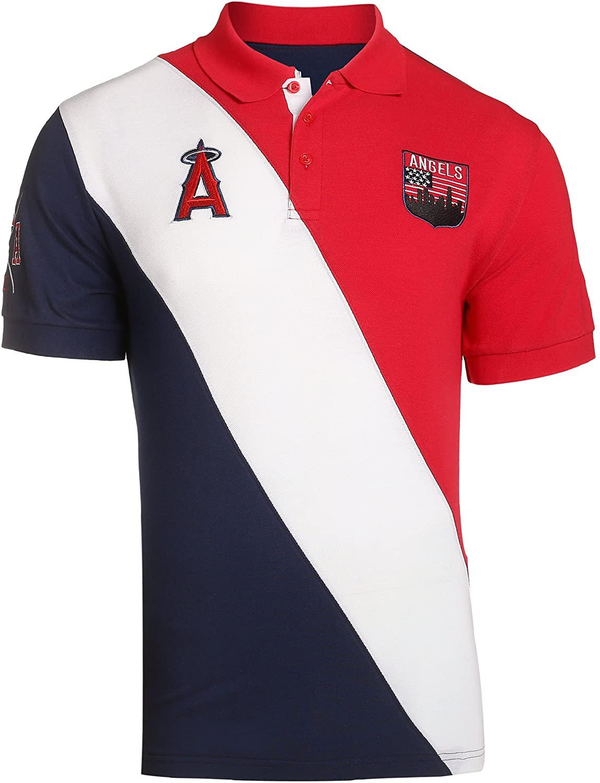 Klew MLB Baseball Men's City Crest Polo Shirt