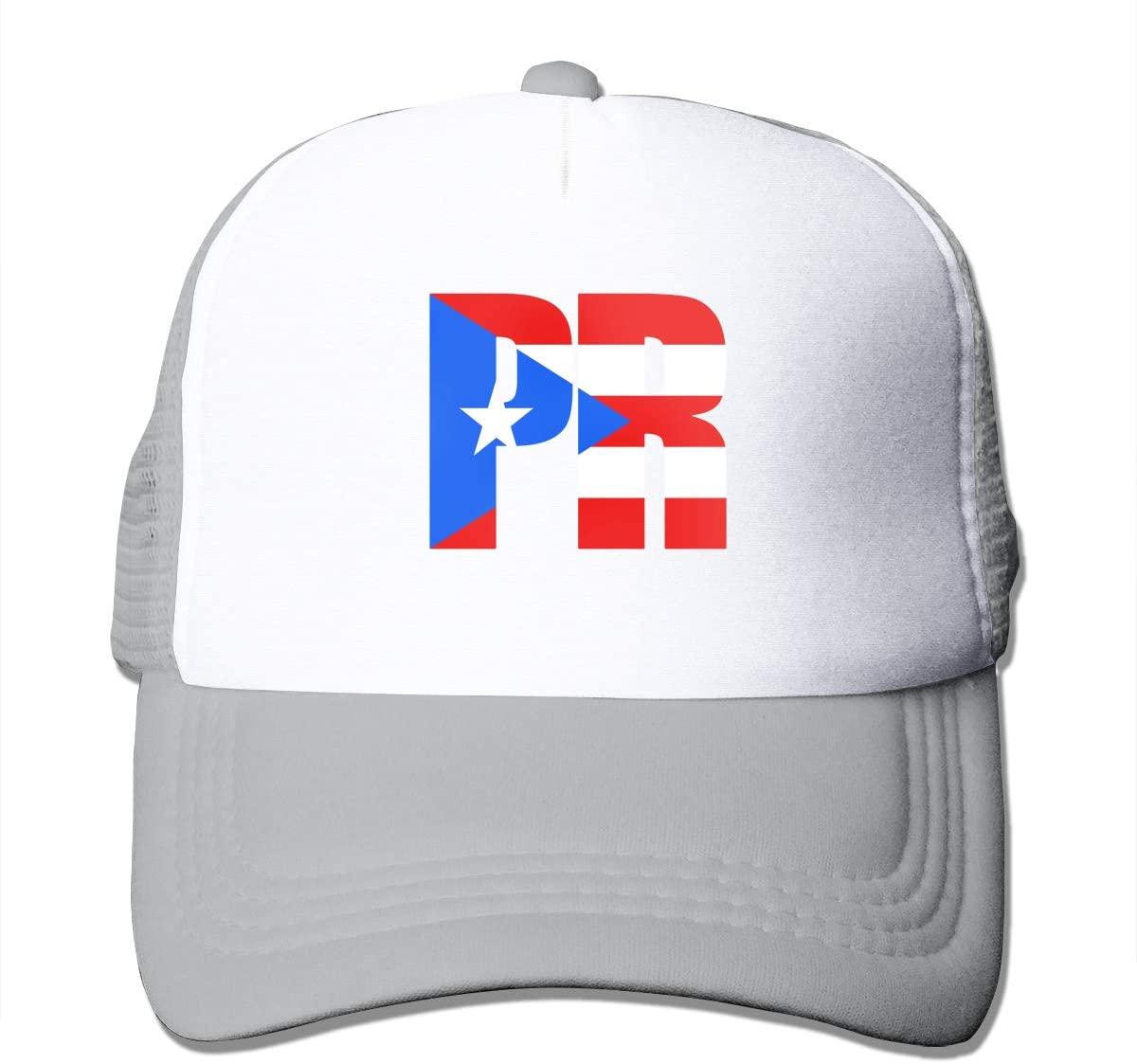 Adult Trucker Hat Puerto Rican Flag Custom Mesh Caps