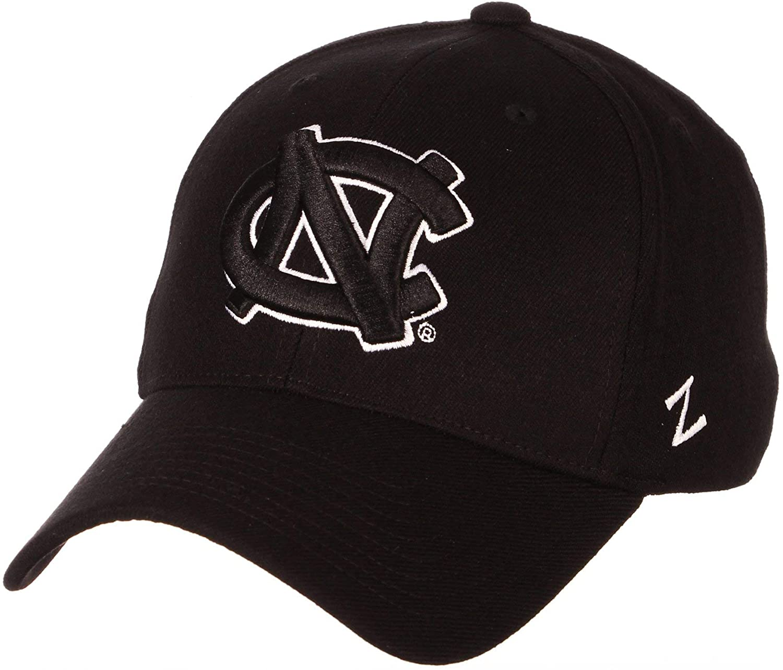 University of North Carolina UNC Tar Heels Black Top DH 'NC' Mens/Womens Flex Fitted Hat/Cap Size Large 7 3/8 7 1/2