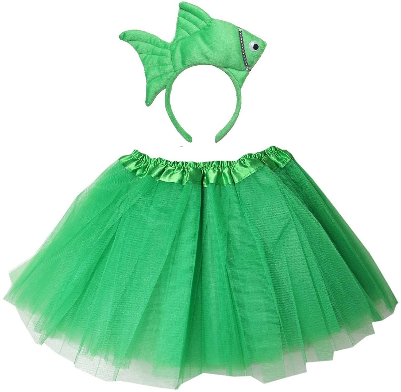 Kirei Sui Fish Headband Tutu Set Green