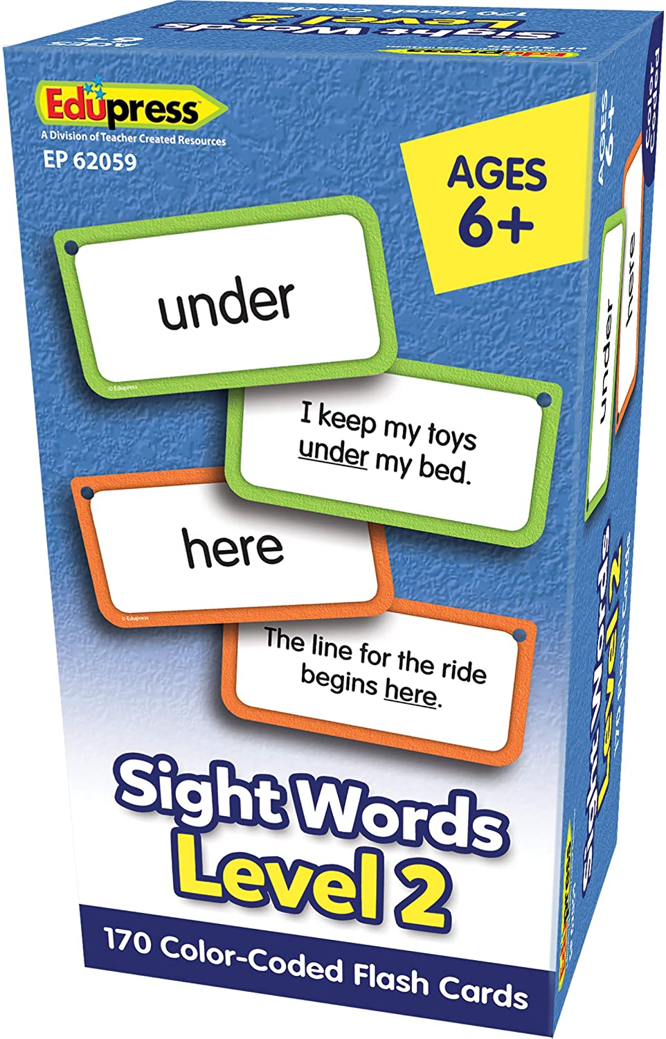 Teacher Created Resources Sight Words Flash Cards - Level 2 (EP62059)