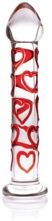 Don Wand Glass Pleasure Wand with Mushroom Tip, Red Sweetheart