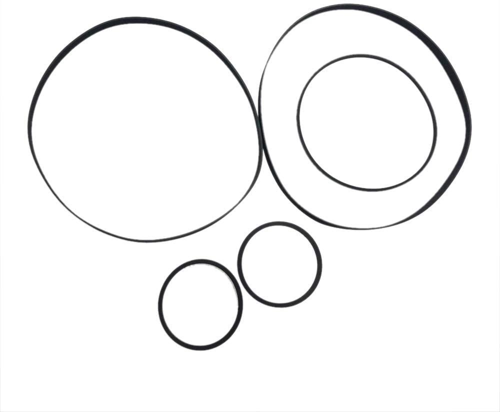 Zahara 5 Piece Suit Belts kit Replacement for Sony TC-W320 / TC-W320S / TC-W370 / TC-W411 (for Side A+B)