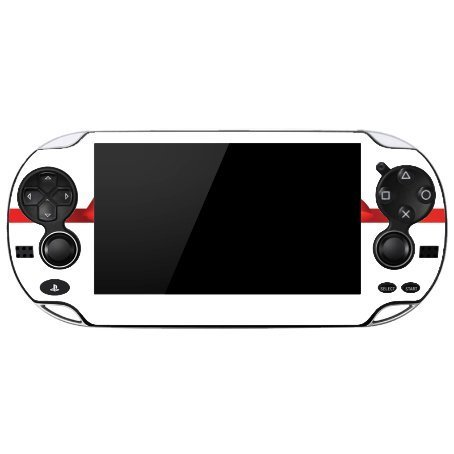 Christmas Red Ribbon Bow Playstation Vita Vinyl Decal Sticker Skin by Moonlight Printing by Moonlight Printing