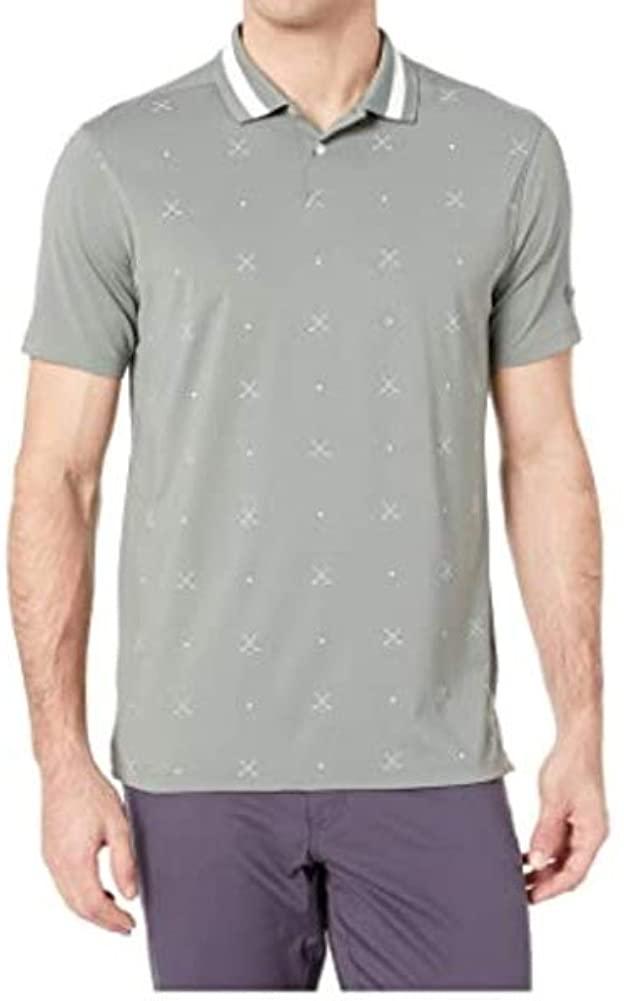 Nike Dry Fit Vapor Print OLC Golf Polo 2019 Vintage Lichen/White Large
