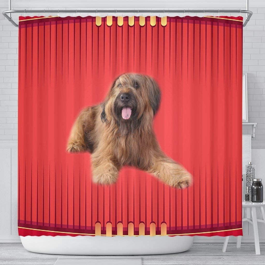 Briard Dog Print Shower Curtain