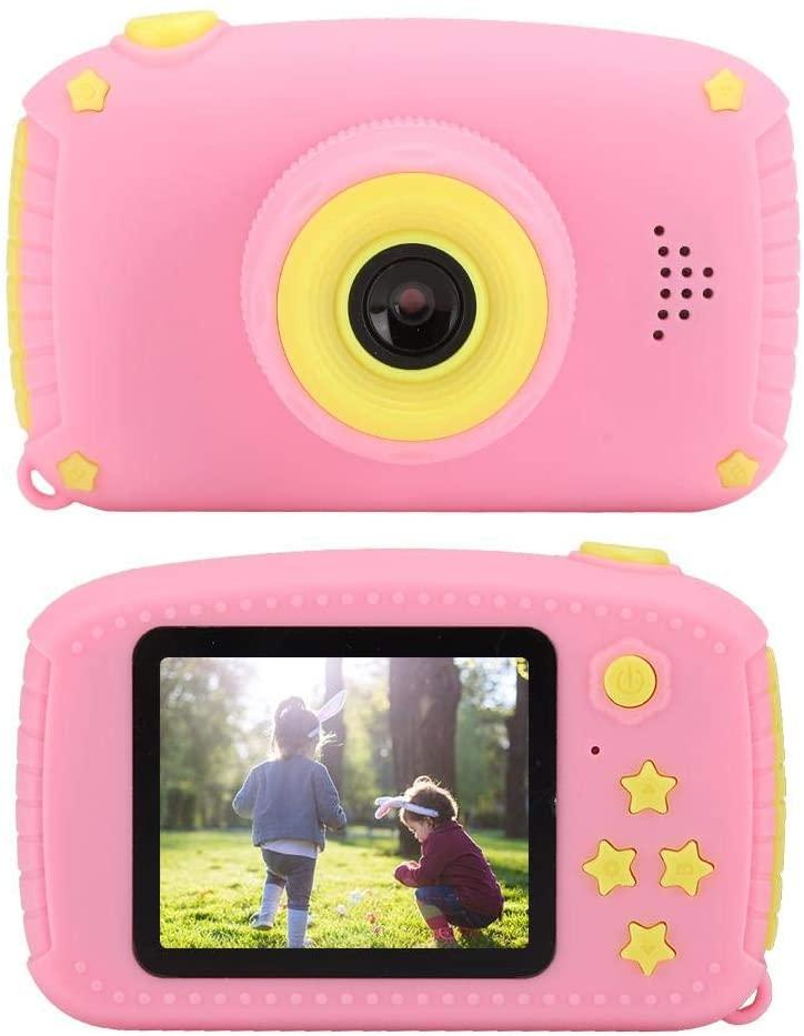 ASHATA Digital Kids Camera, 32GB TF Card Multifunctional Mini Kids Digital Video Camera,Portable Pink ABS Children Digital Camera 12MP 2.0-Inch HD IPS Color Display Screen Gift Toy for Child