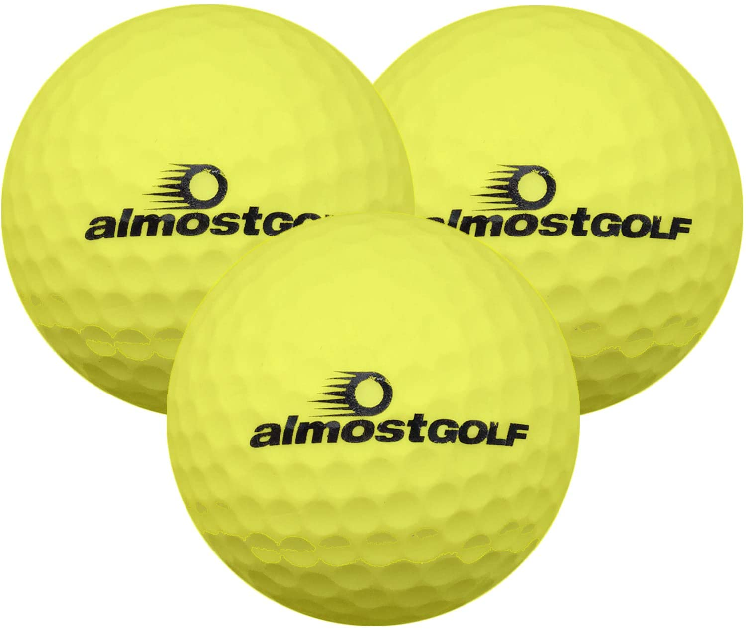Almost Golf Limited Flight Golf Balls (3 Ball Pack) -Yellow - from in The Hole Golf
