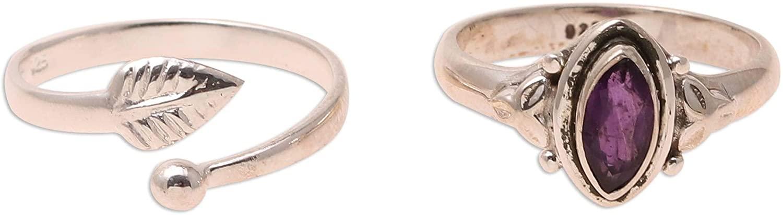 NOVICA Amethyst .925 Sterling Silver Ring 'Royal Delight'