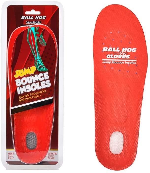 Ball Hog Gloves Jump Bounce Insoles (Lightweight Basketball Training Orthotics)