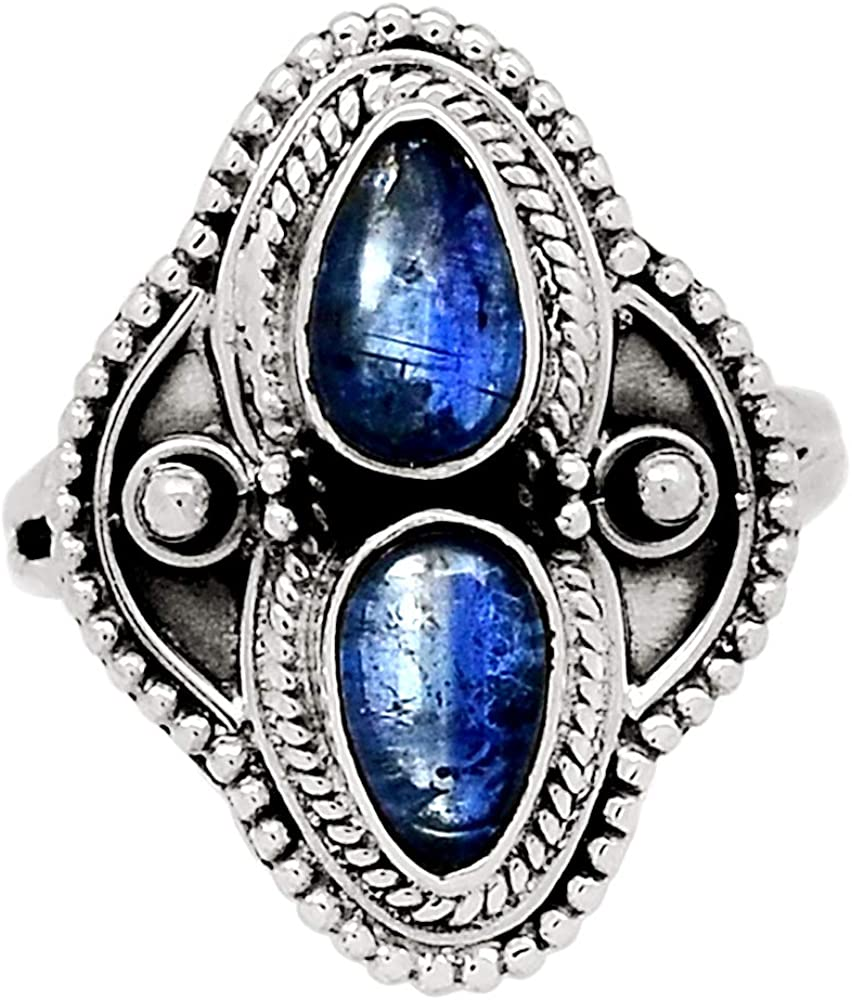 Xtremegems Kyanite - Brazil 925 Sterling Silver Ring Jewelry Size 8.5 32344R