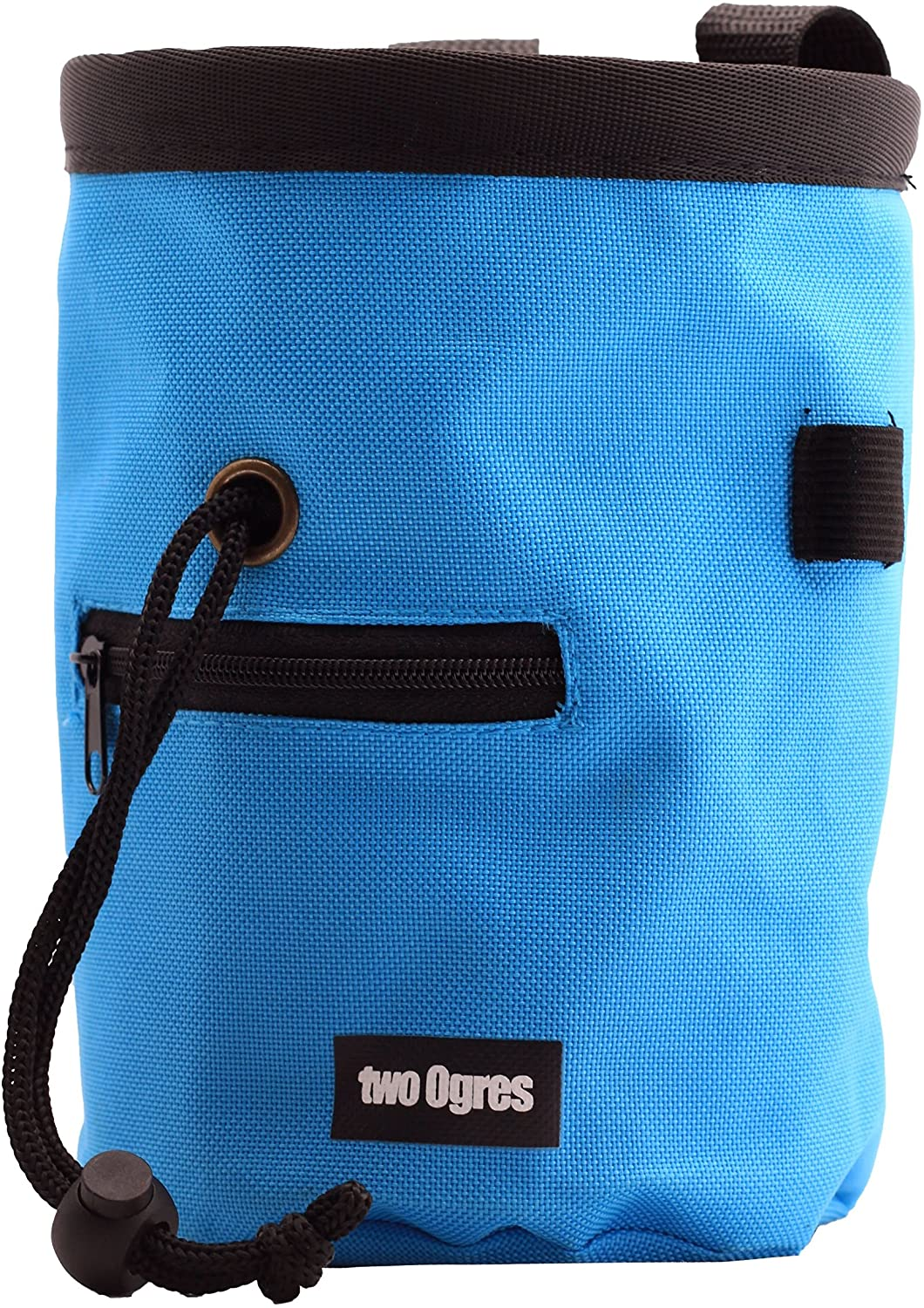two Ogres Essential-Z Climbing Chalk Bag with Belt and Zippered Pocket for Climbing, Gymnastics, Weight Lifting