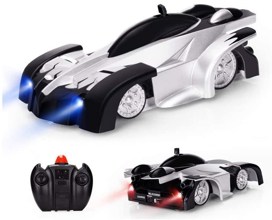 BIYLL Remote Control Car, Stunt Car RC Wall Stunt Car Dual Modes 360°Rotation RC Cars Vehicles Toys Children Games, Perfect for Kids Boys Best Gift (Black).1584.5CM.