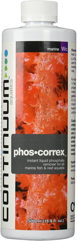 Continuum Aquatics Phos Correx - Instant Liquid Phosphate Remover for All Marine & Reef Aquaria